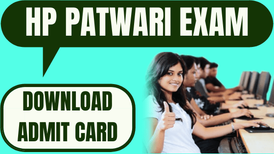HP Patwari Admit Card