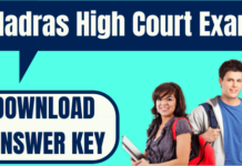 Madras High Court Answer Key