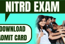 NITRD Admit Card