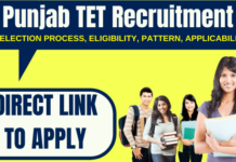 Punjab TET Recruitment