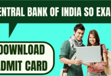 Central Bank of India Admit Card