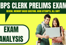 IBPS Clerk Prelims Exam Analysis 8th December 2019