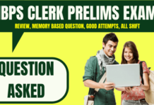 IBPS Clerk Prelims Question Asked 8th December 2019