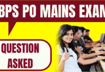 IBPS PO Mains Question Asked