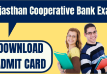 Rajasthan Cooperative Bank Admit Card