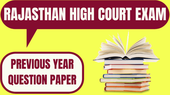 Rajasthan High Court Previous Papers