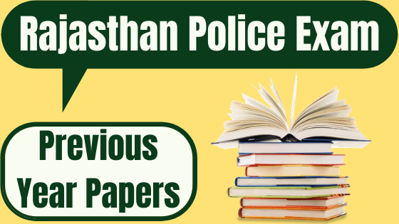 Rajasthan Police Previous Year Papers