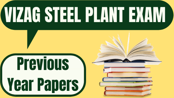 Vizag Steel Plant Previous Year Papers