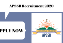 APSSB Recruitment 2020