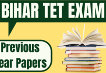 Bihar TET Previous Year Question Paper