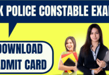 JK Police Constable Admit Card