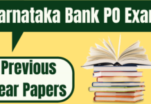 Karnataka Bank PO Previous Year Papers