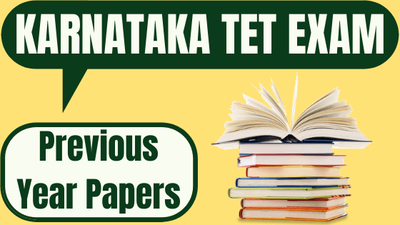 Karnataka TET Previous Question Papers
