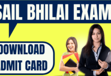 SAIL Bhilai Admit Card