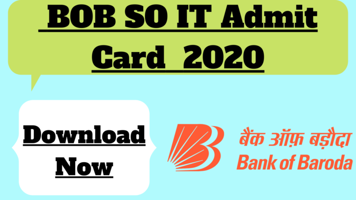 BOB SO IT Admit Card