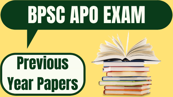 BPSC APO Previous Year Question Paper