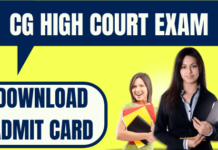 CG High Court Admit Card