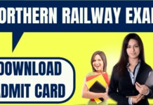 Northern Railway Admit Card