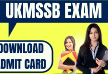 UKMSSB Admit Card