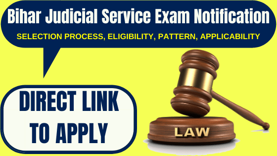 Bihar Judicial Service Exam Notification