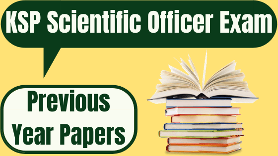 KSP Scientific Officer Previous Papers