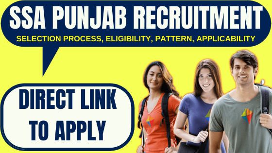 SSA Punjab Recruitment