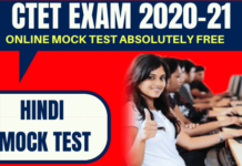 CTET Free Mock Test in Hindi