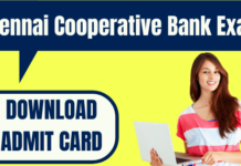 Chennai Cooperative Bank Admit Card