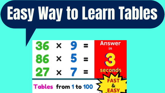 Easy Way to Learn Tables