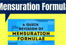 Mensuration Formula