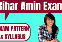 Bihar Amin Exam Pattern and Syllabus