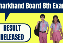 Jharkhand Board 8th Result