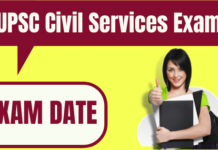 UPSC Civil Services Exam Date