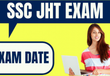 SSC JHT Exam Date