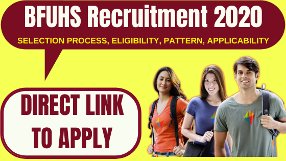 BFUHS Recruitment 2020