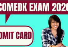 COMEDK Admit Card 2020