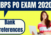 How to Choose Bank Preferences in IBPS PO 2020