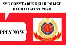 SSC Constable Delhi Police Recruitment