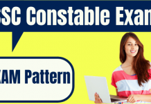 SSC Constable Exam Pattern