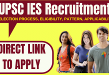 UPSC IES Recruitment 2020