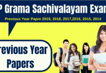 AP Grama Sachivalayam Previous Year Papers