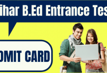 Bihar B.Ed Entrance Test Admit Card