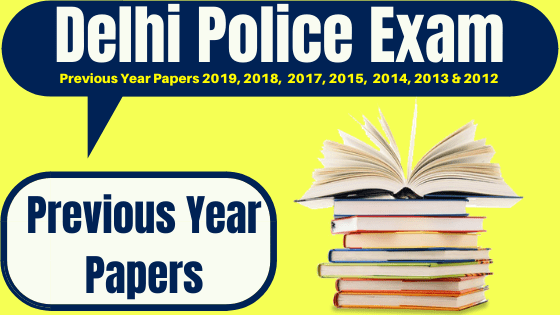 Delhi Police Previous Year Question Papers