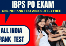 IBPS PO Prelims Free All India Rankers Test