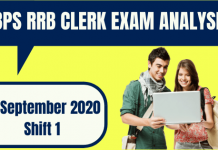 IBPS RRB Office Assistant Exam Analysis 19th September 2020 For Shift 1