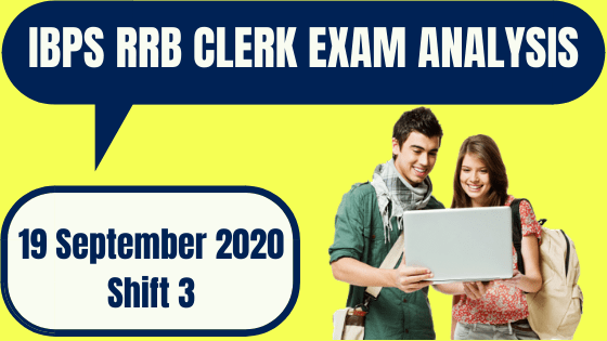 IBPS RRB Office Assistant Exam Analysis 19th September 2020 For Shift 3