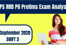IBPS RRB PO 2020 Prelims Exam Analysis 12 September 2020 – Shift 3