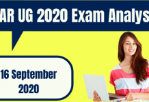 ICAR UG 2020 Exam Analysis for 16 September 2020 1