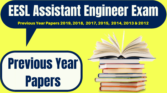 EESL Assistant Engineer Previous Papers