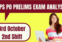 IBPS PO Prelims Exam Analysis 3rd Oct 2020- 2nd Shift